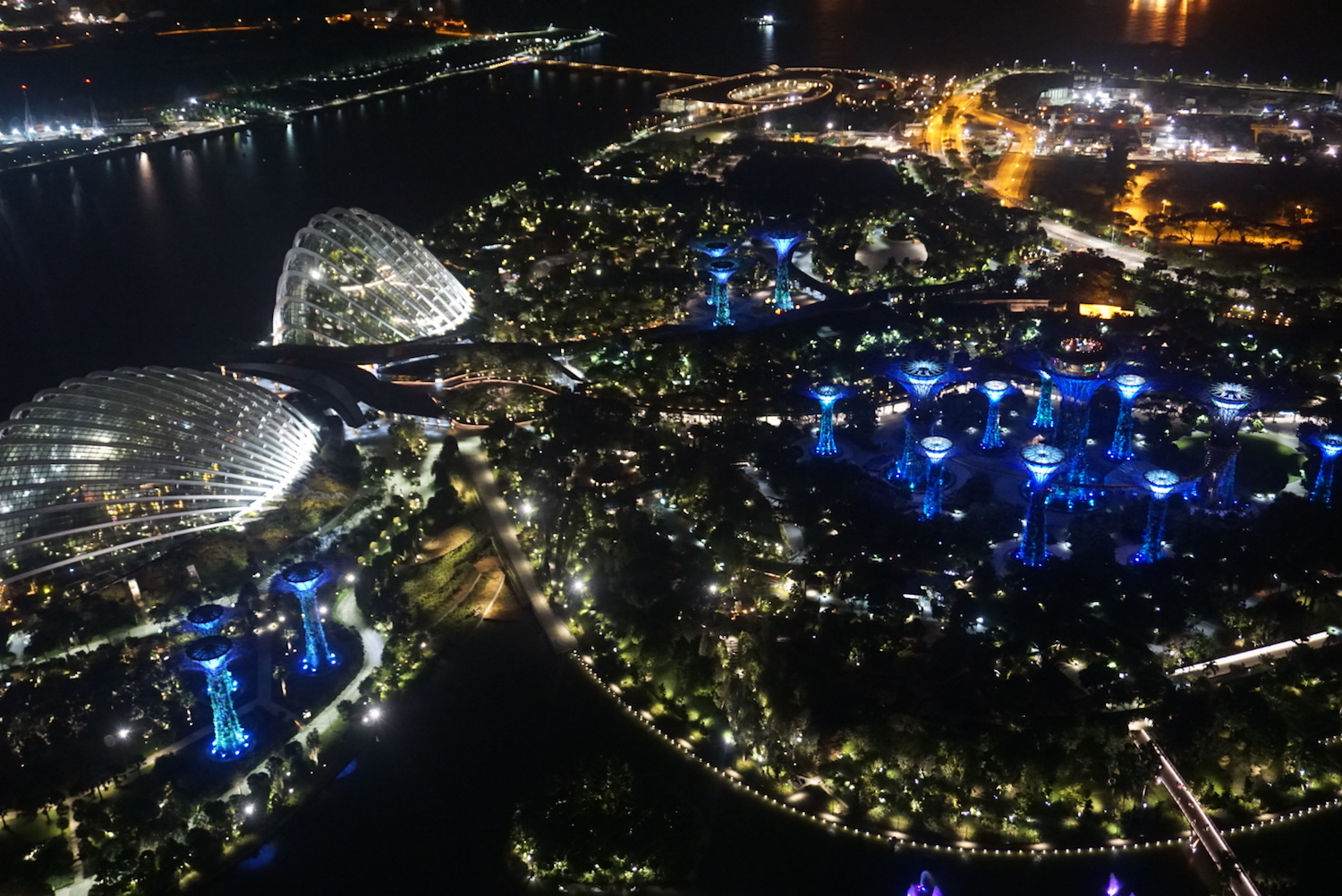 View at night of the cityscape of Singapore. boldlygotravel.com