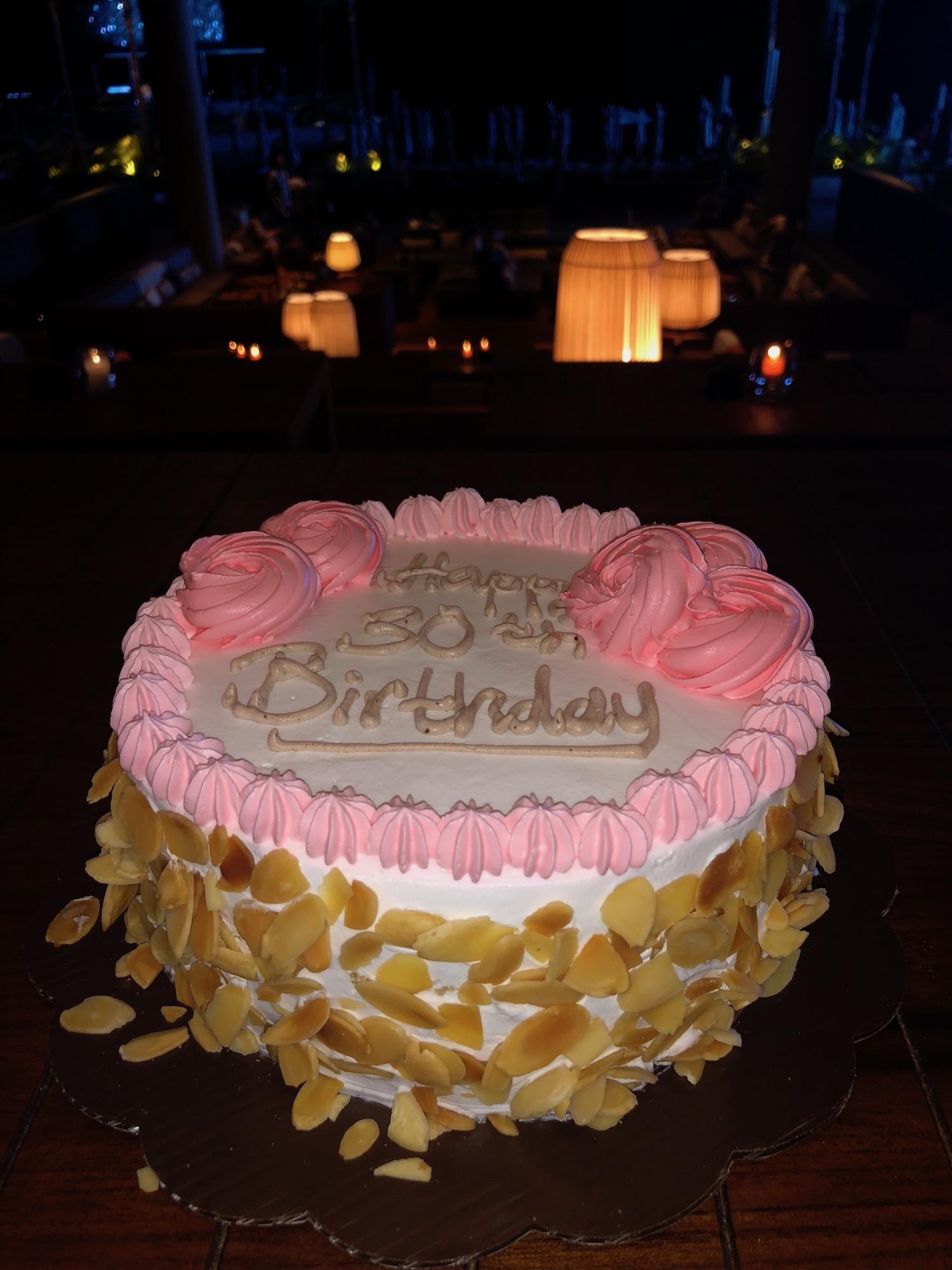 Kelly's 30th Birthday Cake in Bali. boldlygotravel.com