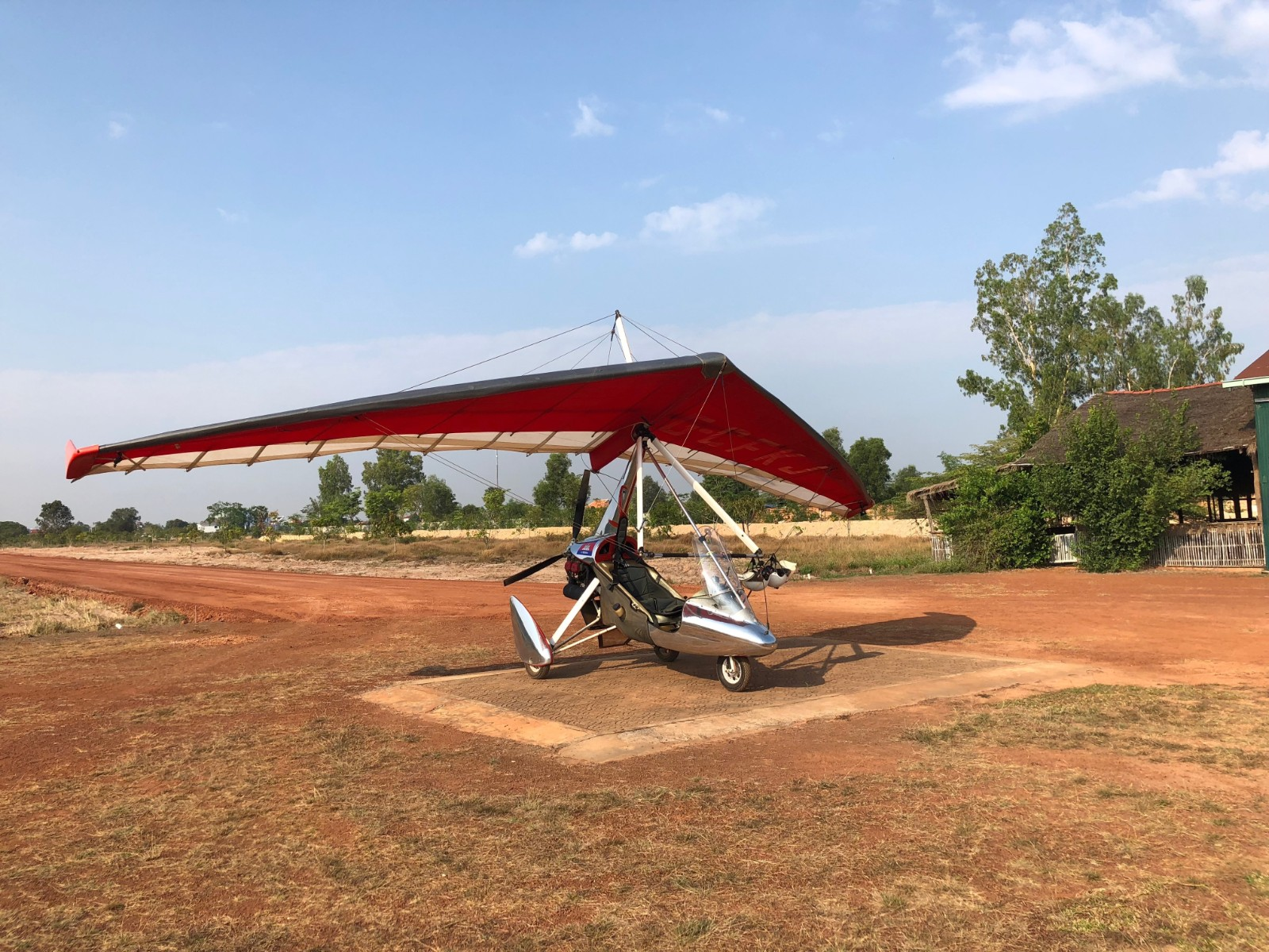 The Ultralight aircraft we took to fly over the Cambodian temples. boldlygotravel.com