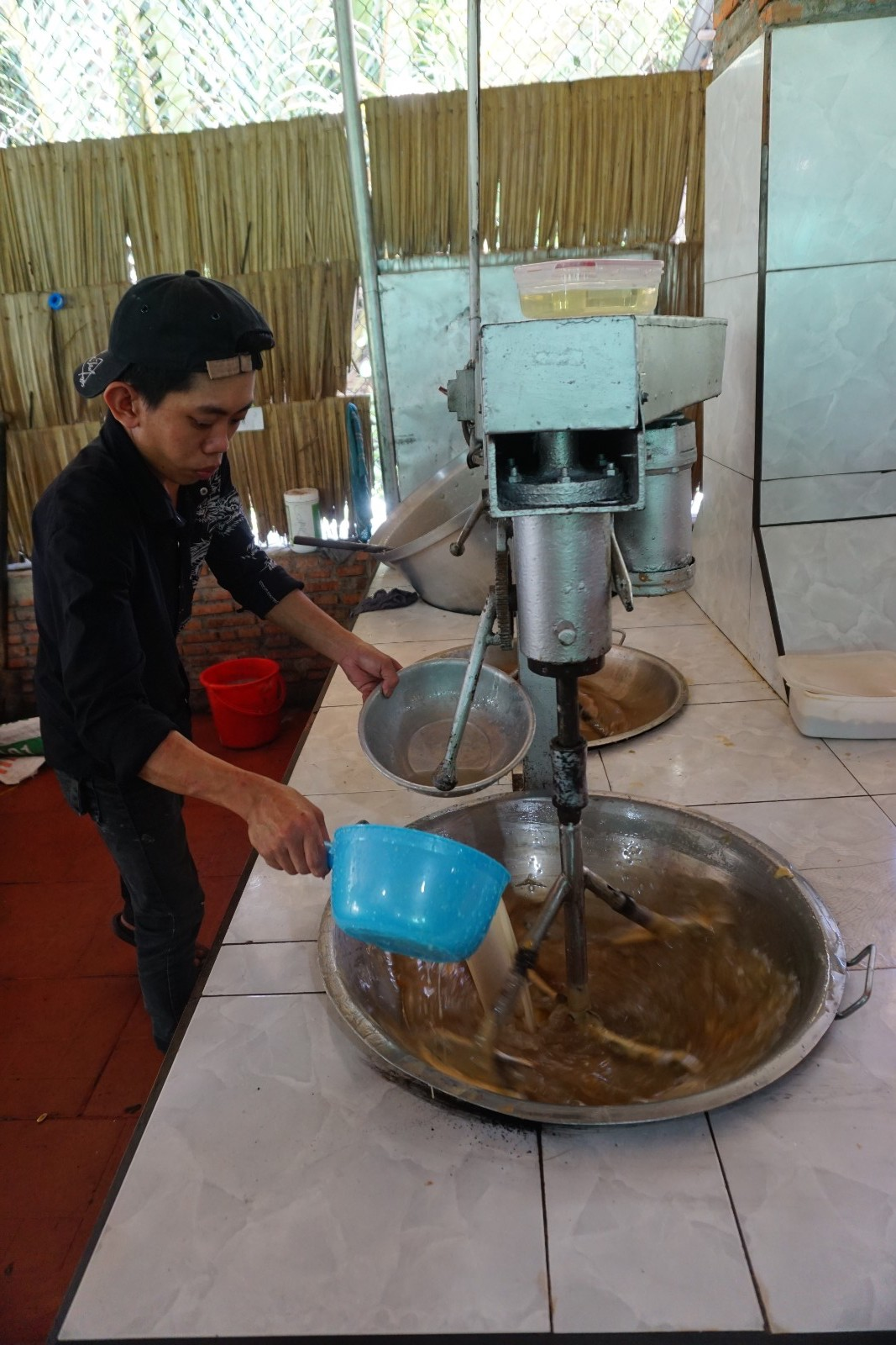making the coconut candy