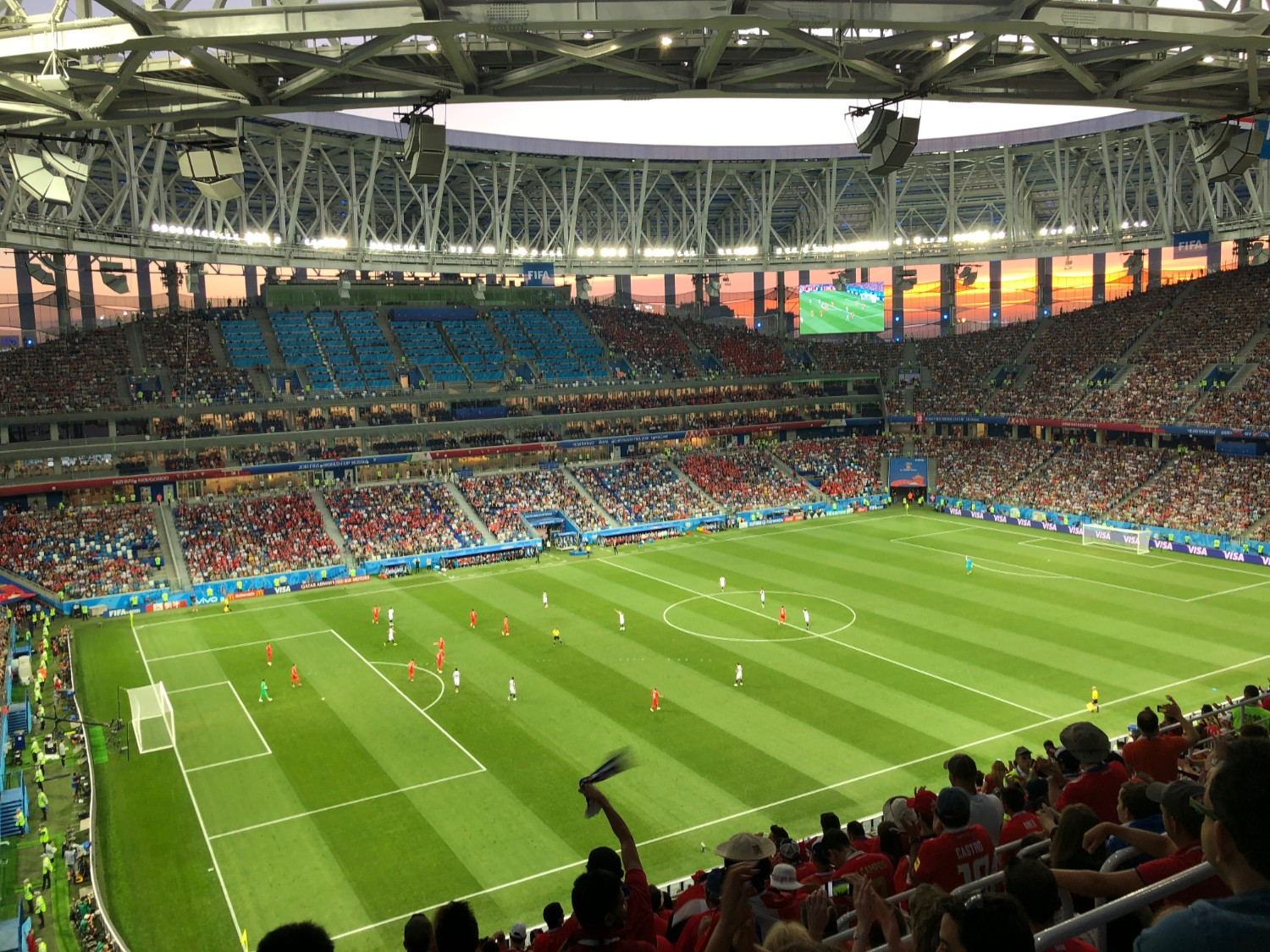 Matt and Kelly go to the World Cup 2018 Switzerland vs Costa Rica game in Russia. boldlygotravel.com