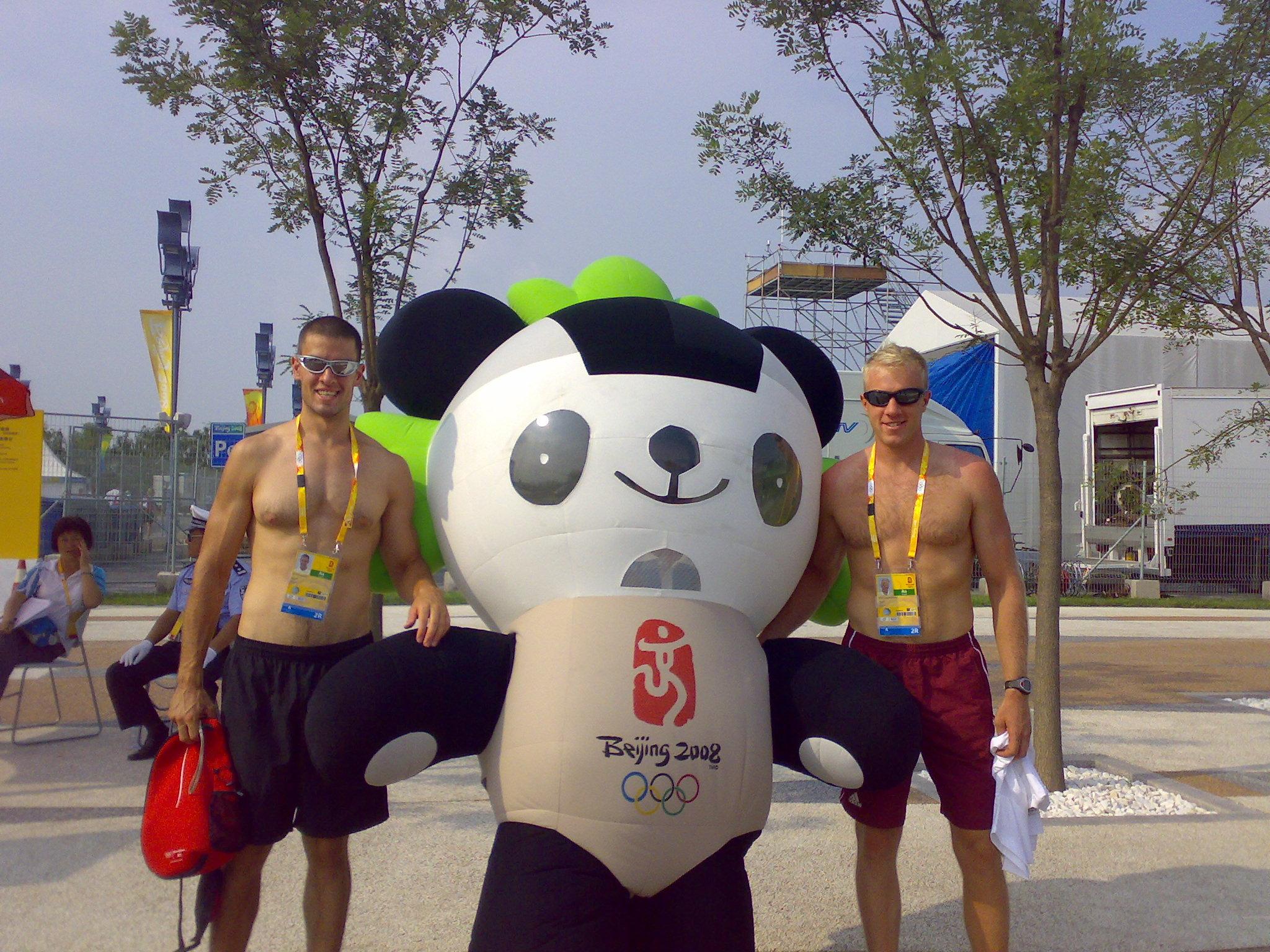 Öcsémmel a 2008-as olimpián