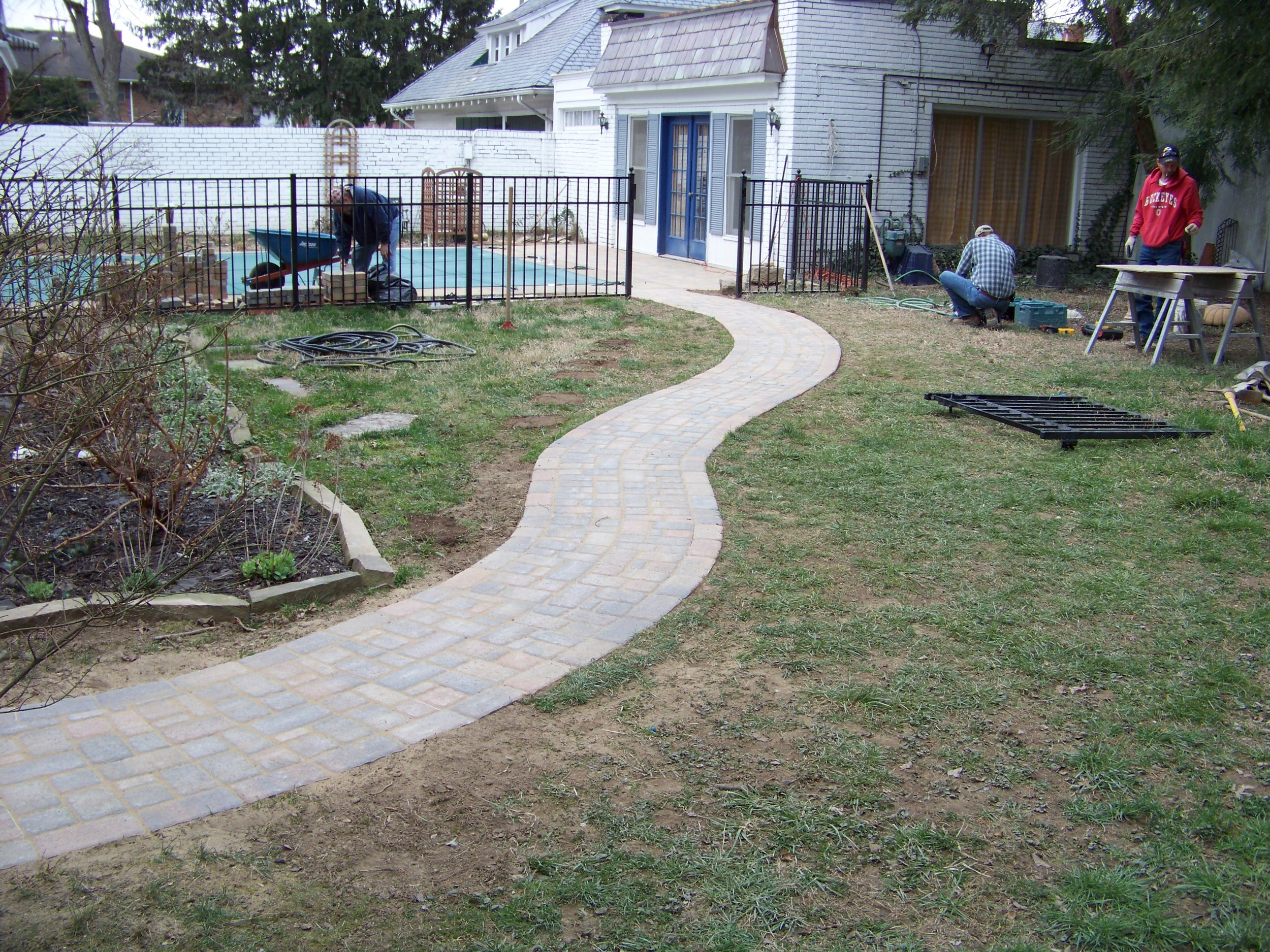 Paver sidewalk, patio