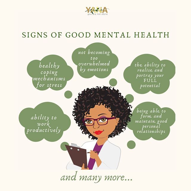 How good is your Mental Health? Here are some signs that show you have good Mental Health. Can you think of anymore?  Comment below  #Mentalhealth #wellbeing #emotional #psychological #social #individual #youngadults #youarenotalone #yanacollective #yana