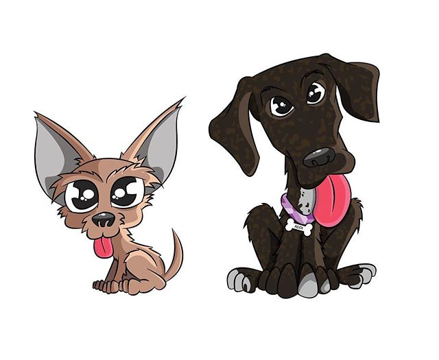 Work'n on a pup project for the @pittsburghpupwagon, more to come soon 🐶🐶 #illustrator #pupart #doodles