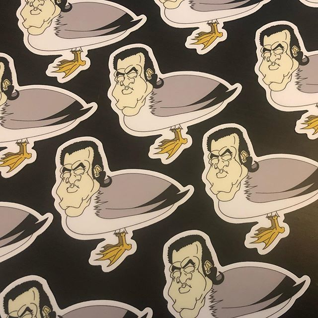 Steven Seagull stickers 🌴🕊🌊 #stevenseagull #stevenseagal #somegoodprint  @superdeepcreative 🖥👨🏻‍🎨@somegoodprint 🖨 @seagalofficial