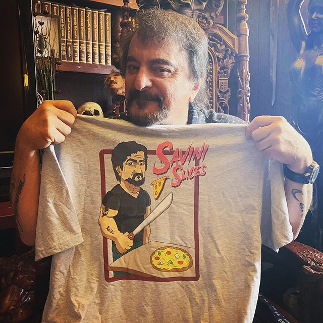 Did a caricature of @thetomsavini and turned it into a t-shirt 👕  Heard he makes a killer pizza pie 🔪🍕🧟‍♂️ #tomsavini #caricatureart #pghartist #pghart #workisplay