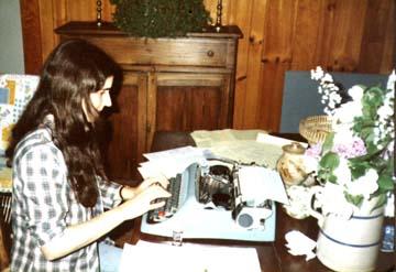 Budding Author, 1980. Balsam, North Carolina