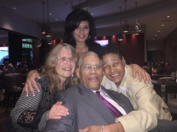 LA City Club, March 3, 2016. Lyn Goldfarb, Alison Sotomayor, former Los Angeles City Councilman David Cunningham Jr., and Phyllis Bradley.