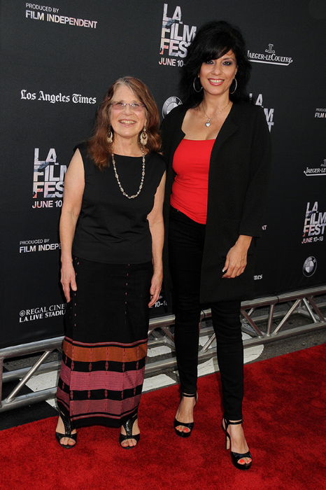 Los Angeles Film Festival Opening Night, June 10, 2015. Lyn Goldfarb and Alison Sotomayor. Photo credit courtesy of Byron Purvis.