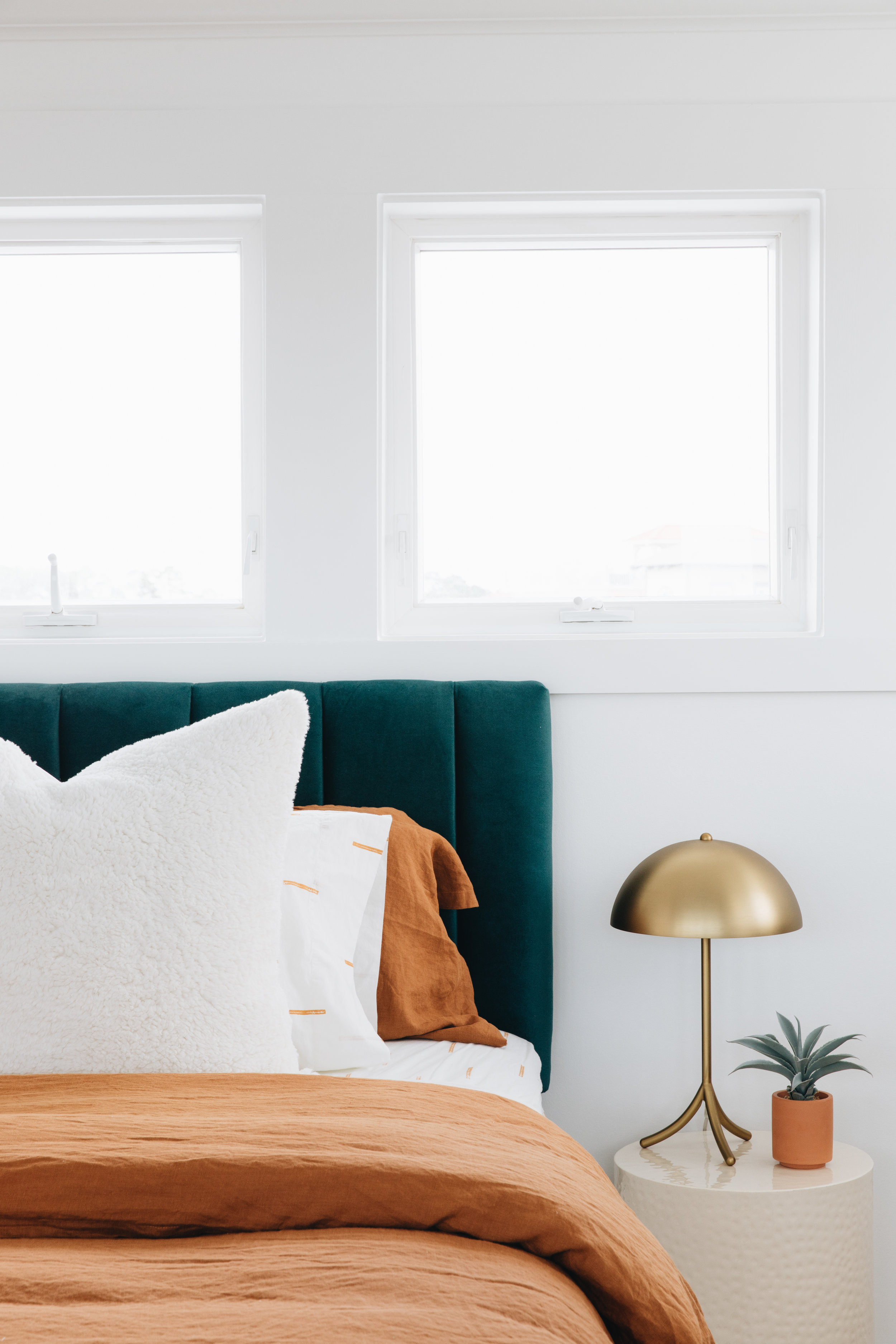 Duvet    Side Table (similar)    Bedside Lamp (similar)