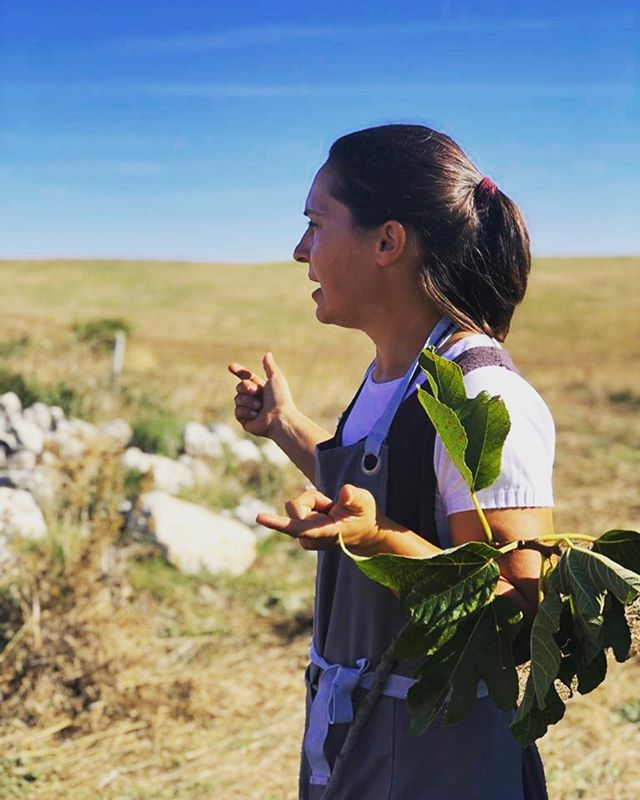 This is our dear friend and collaborator @santinatheshepherdess She teaches the cheese making component of our workshops each season and also teaches us so much more. She is a source of inspiration and joy every single day. xo 📷@deborahjeanriley