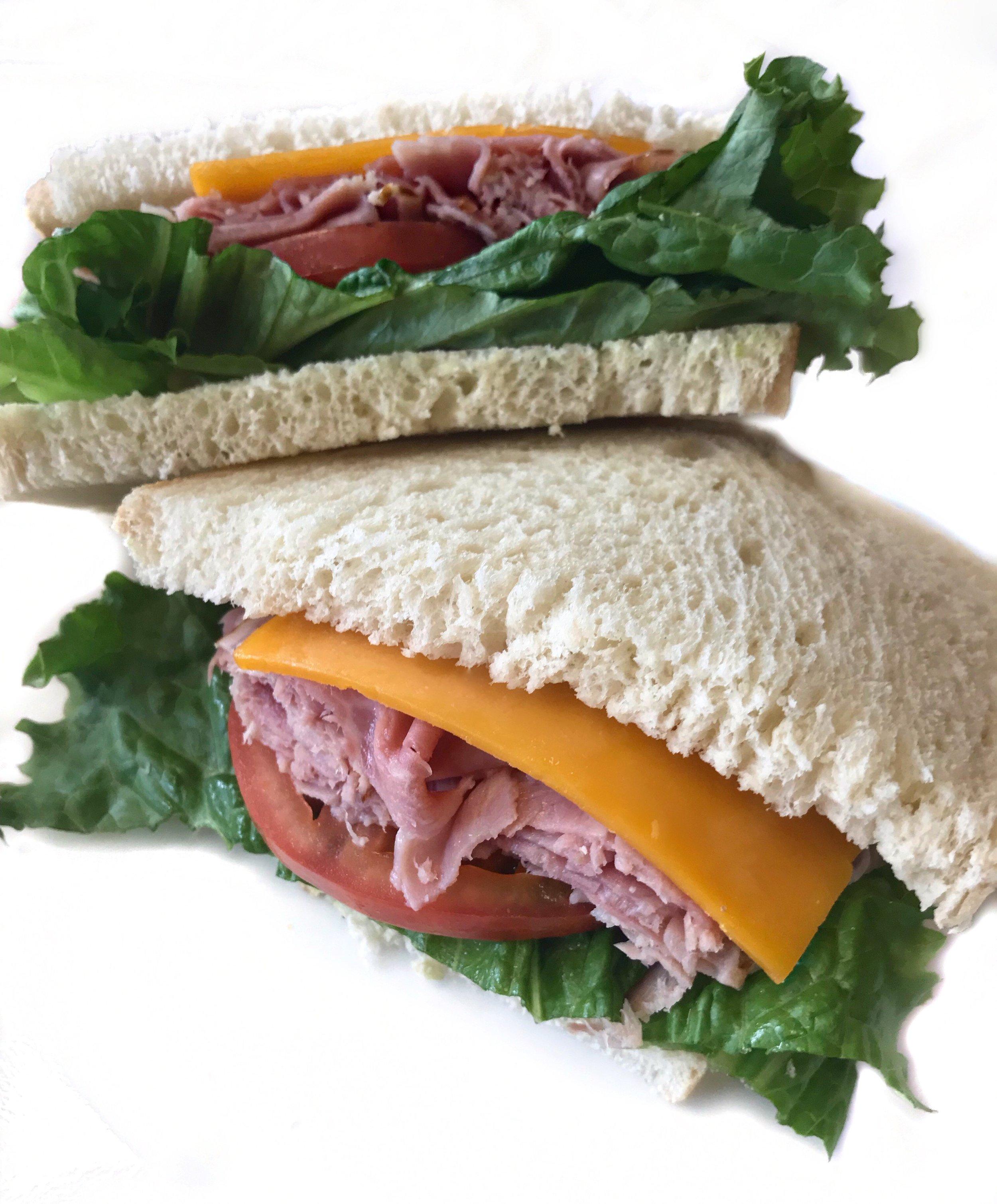 Classic Ham & Cheese    Ham, Cheddar, Lettuce, Tomato on Sourdough