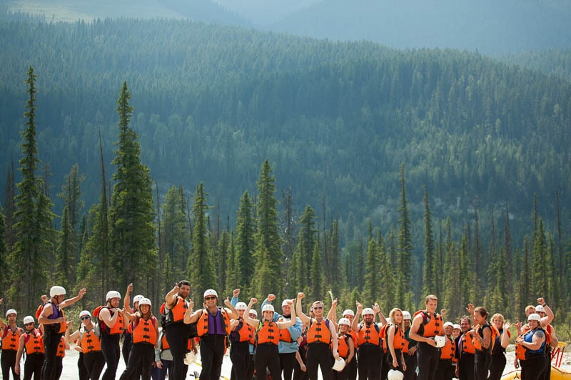 Pumped to be Rafting the Kicking Horse River