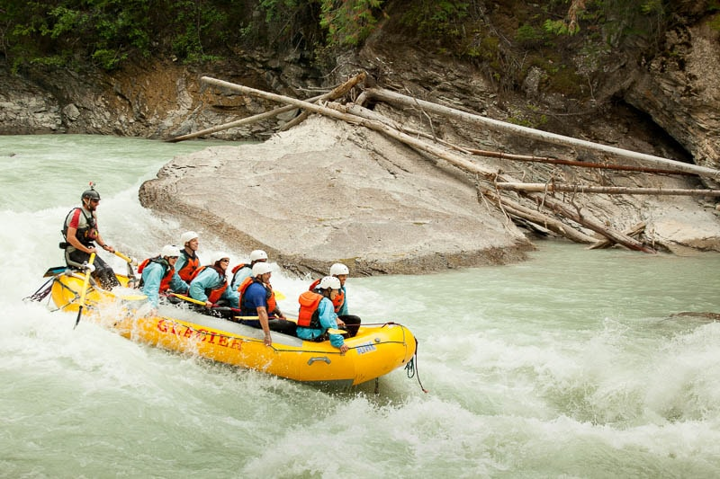 The lower canyon of the Kicking Horse River