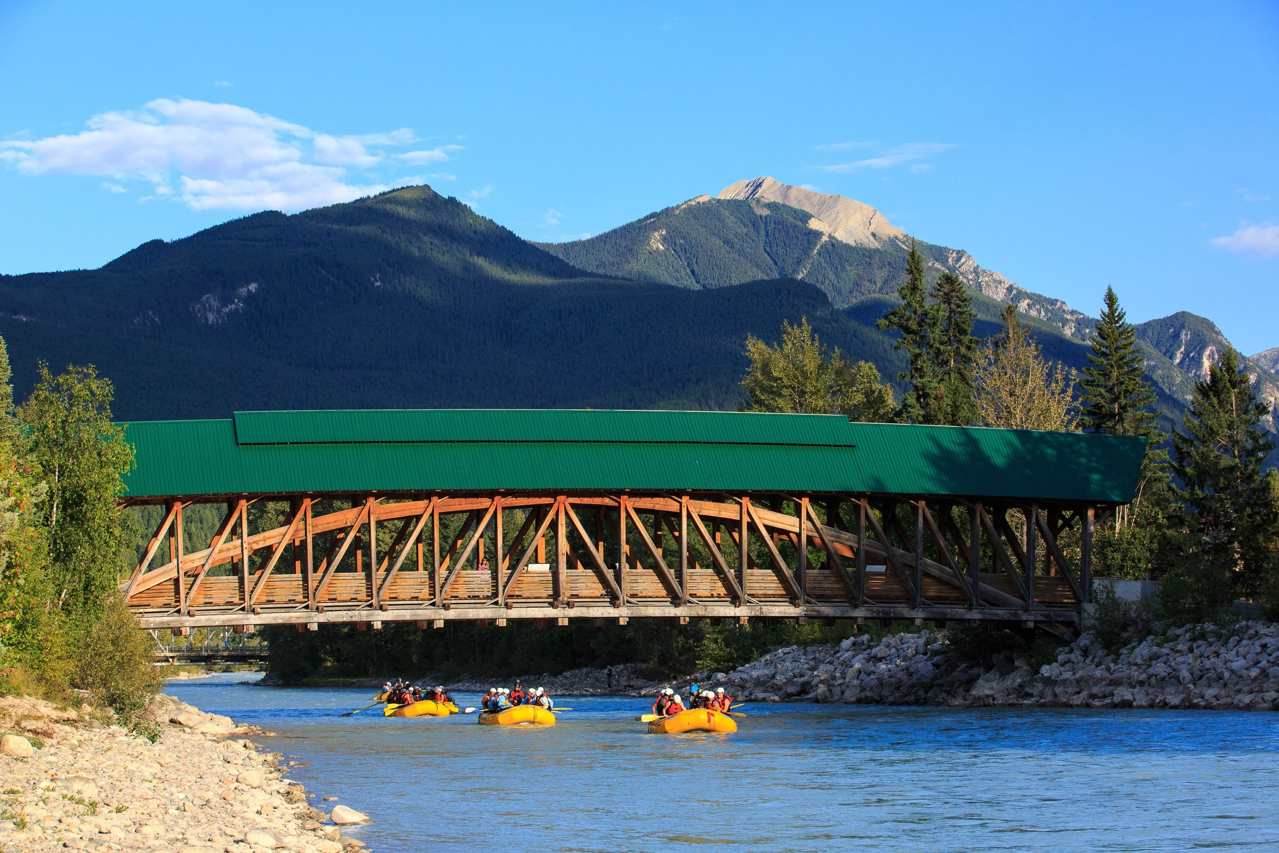 Rafting Through the Town of Golden, BC