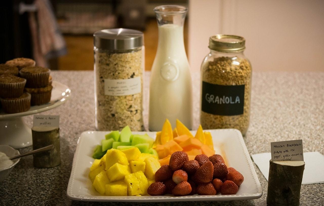 A fresh and healthy breakfast