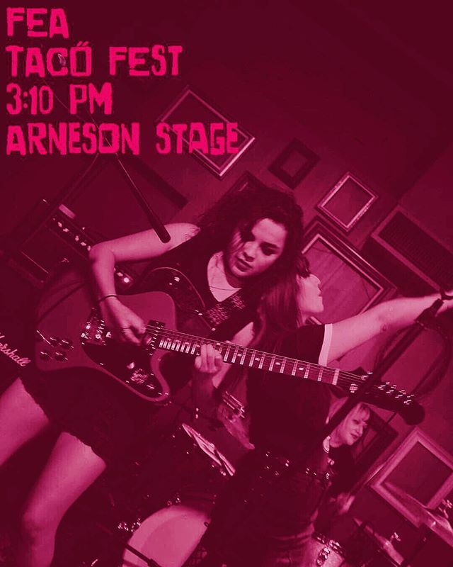 Tomorrow y'all . Come catch the new Fea :) on at 3:10 at the Arneson Stage !