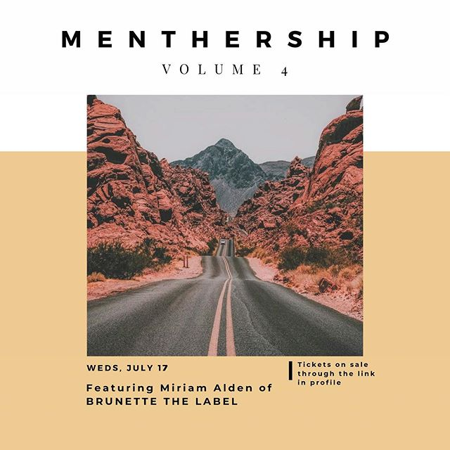 The best is yet to come... on July 17th! ✨ // #MentHerShip is back with a bang this summer and better than ever. Volume 4 features the inspiring and badass @miramalden. Some of you may have heard of the company she founded, @brunettethelabel 👀 not to mention her own empowerment movement, @thebabelist! Our topic: The Long Game. Success isn't won overnight and the road is full of twists and surprises. We'll have an open conversation on how Miriam paved her own way and of course, there will be beverages and bites flowing. Get your ticket through the link in profile, limited amount available! 100% of proceeds go to @onegirlcan charity! #MentHerShipv3