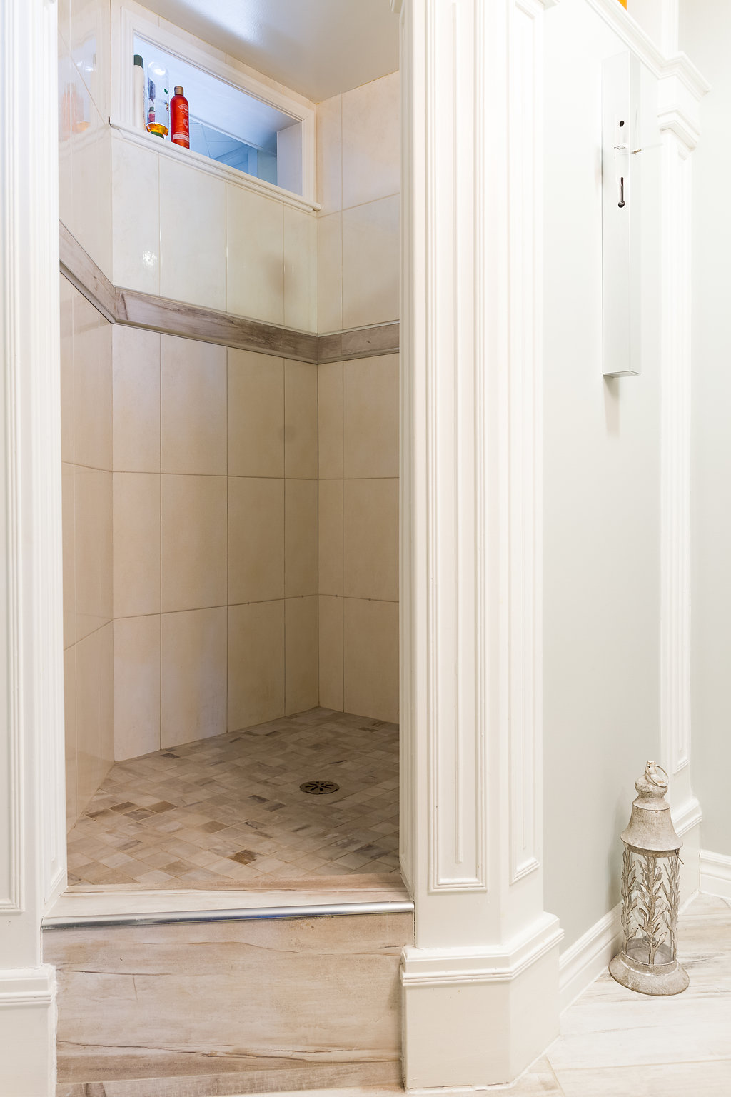 Step-Up Shower Stall
