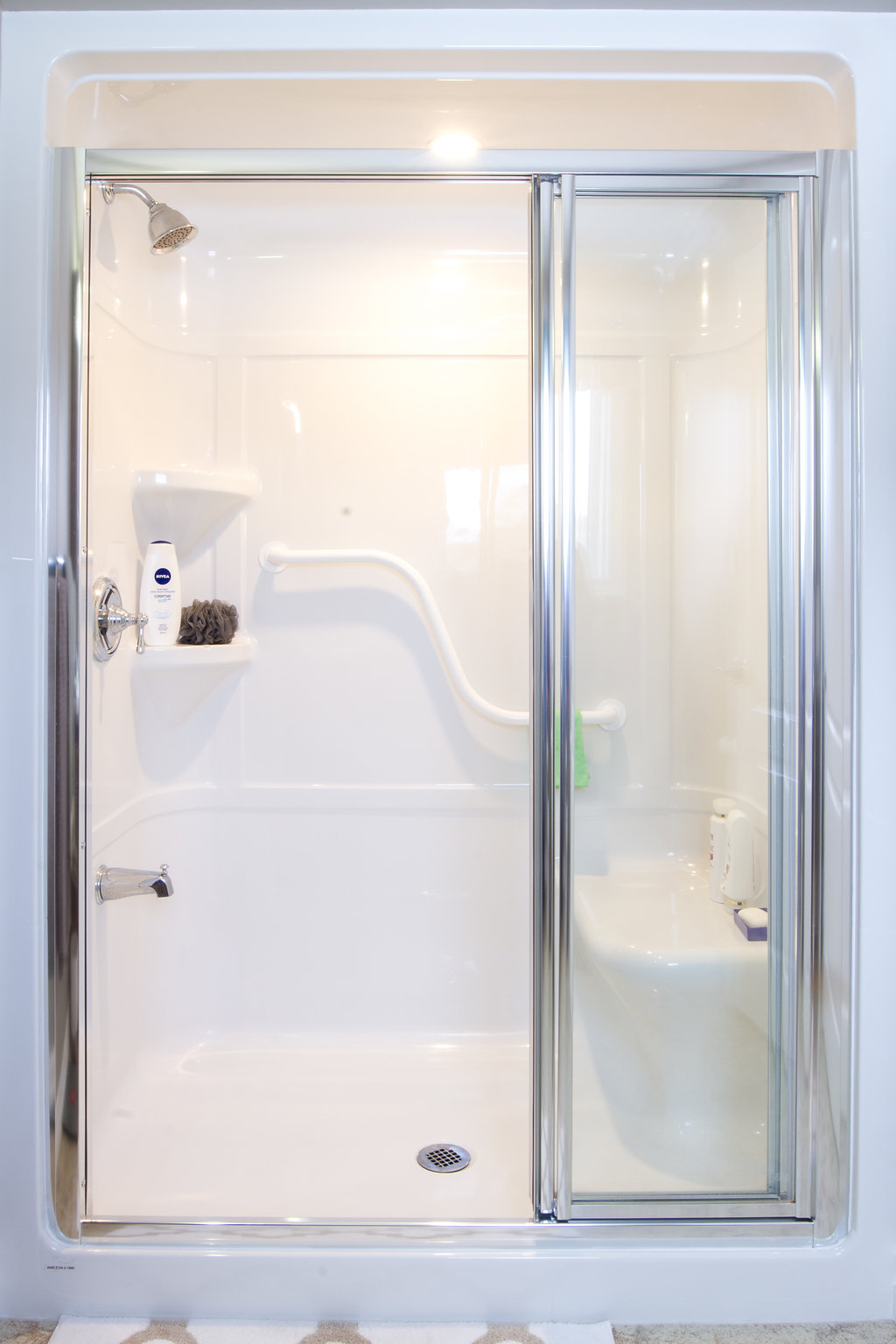 Walk-In Accessibility Shower with Rail & Seat