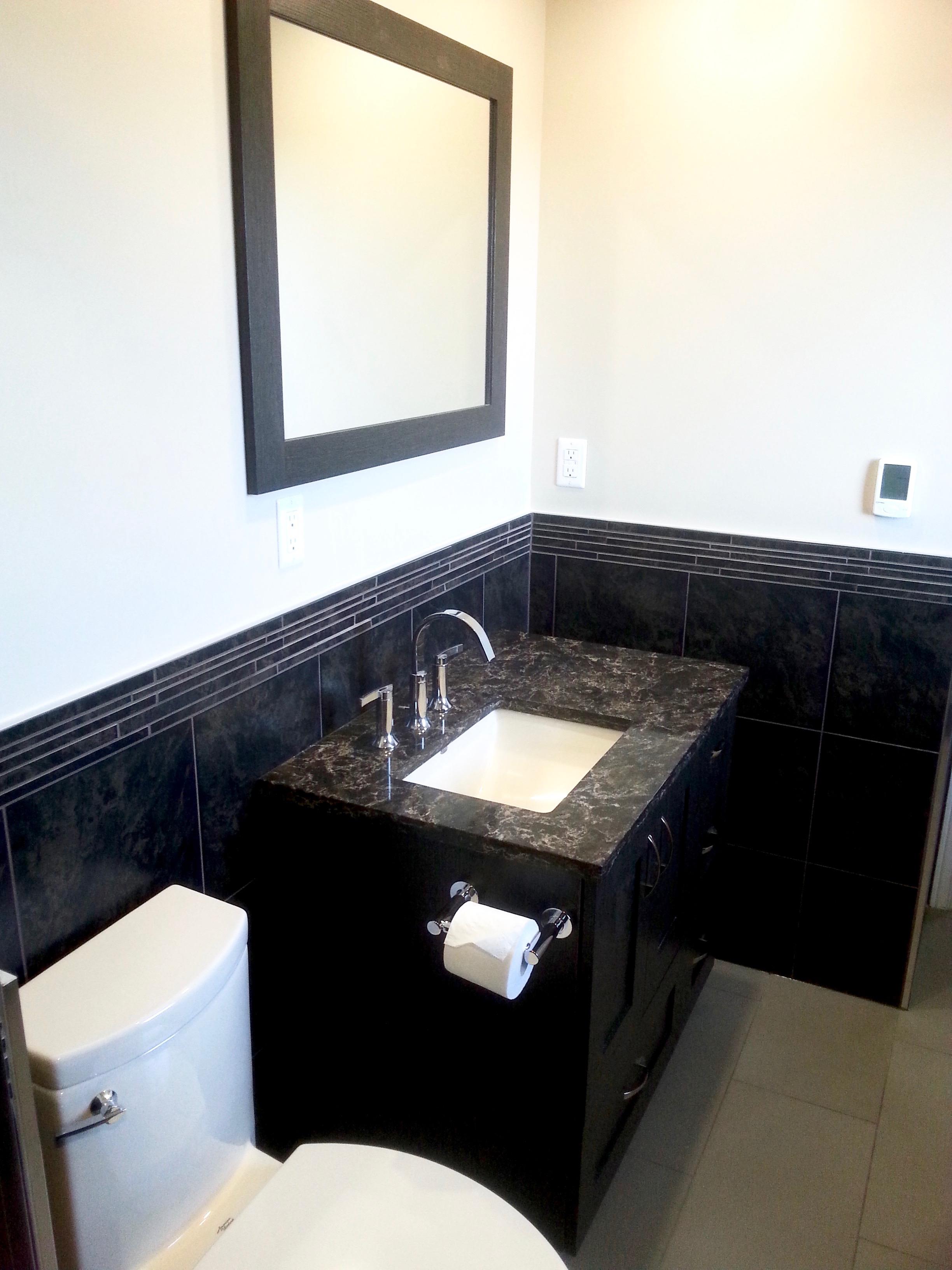 Customer vanity and wall tile