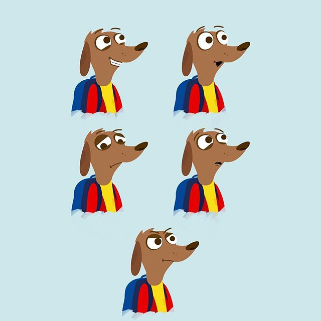 #facialexpressions for the dog people. #animation #dogs #cartoon