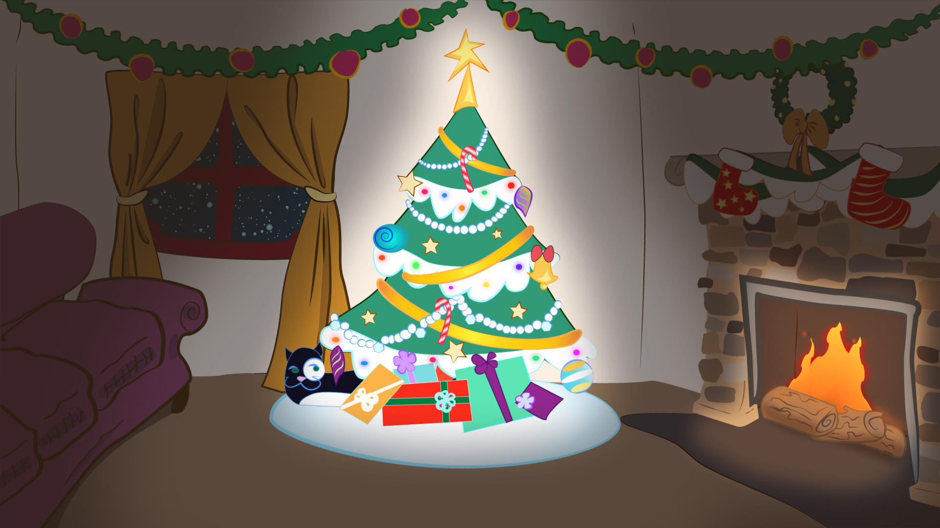 Meow-y Christmas: Animated Occasions