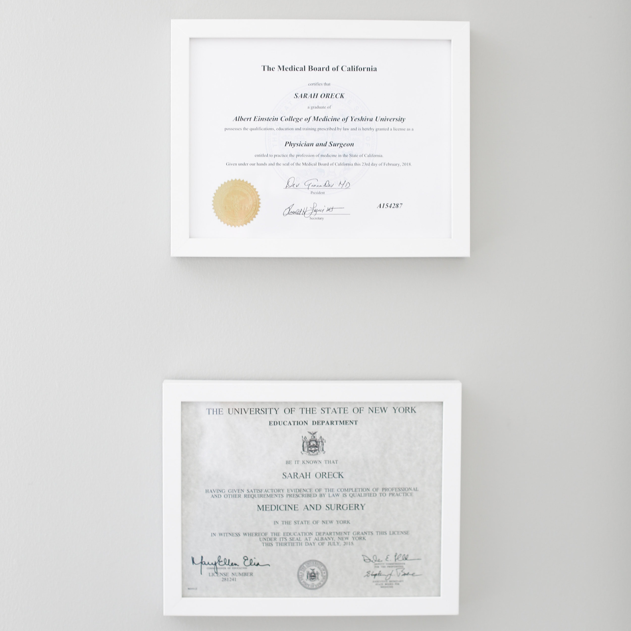CREDENTIALS - AMERICAN BOARD OF PSYCHIATRY AND NEUROLOGY CERTIFIED PHYSICIANCALIFORNIA STATE MEDICAL LICENSENEW YORK STATE MEDICAL LICENSEBUPRENORPHINE CERTIFIED PROVIDERMINDFULNESS-BASED STRESS REDUCTION TRAINEDEYE MOVEMENT DESENSITIZATION & REPROCESSING THERAPY TRAINED