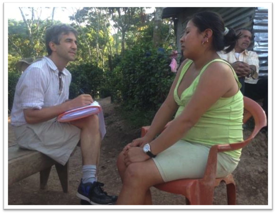 Dan doing a nutrition survey in the mountains of Nicaragua in 2015