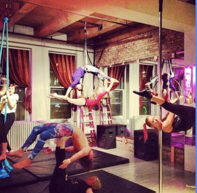 The studio in full swing during an advanced class
