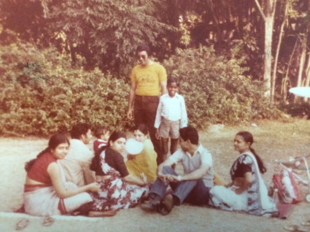 A family outing: my grandmother is next to my dad on the right