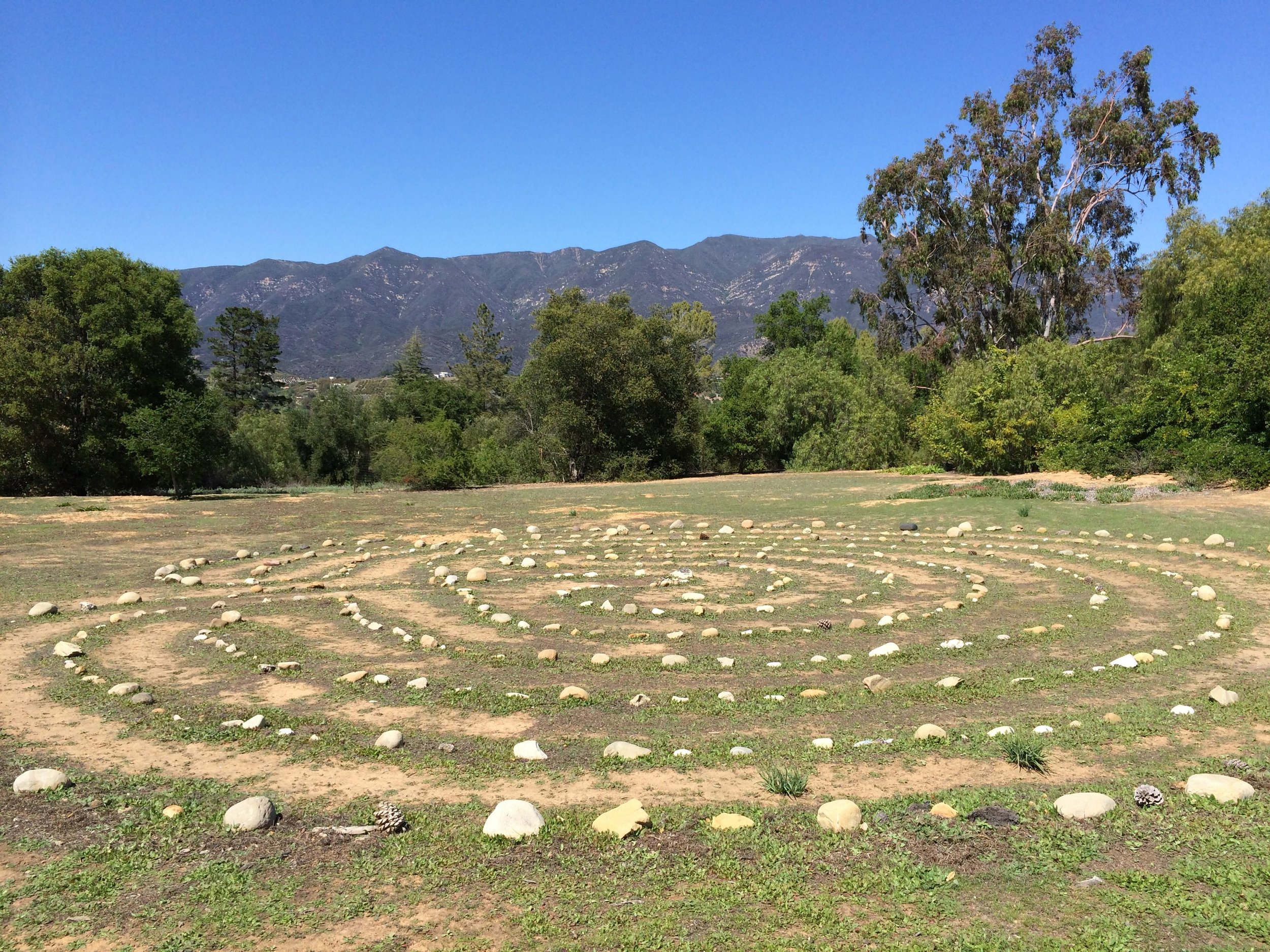 The Ojai labyrinth, the first and only other labyrinth I have walked