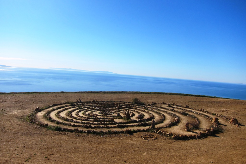 The Topanga Canyon labyrinth is in the shape of a spiral
