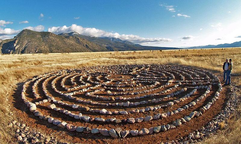 A labyrinth in New Mexico