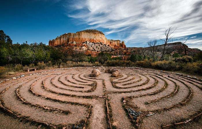 A desert labyrinth