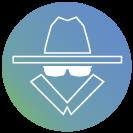 Edge-anonymity