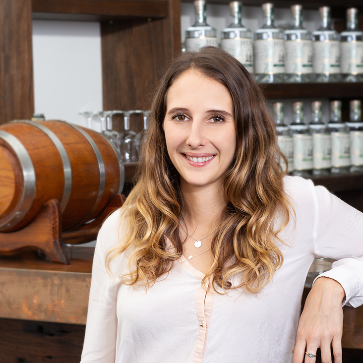 """Harriet Messenger   Sales & Marketing Manager  Harriet is the distillery dynamo who loves to be a part of everything. Responsible for building the Ink Gin and Husk Distillers brands from the ground up, she's a creative marketing whiz and has long been known as """"The Ink Gin Girl"""".  Favourite Cocktail: Southside"""