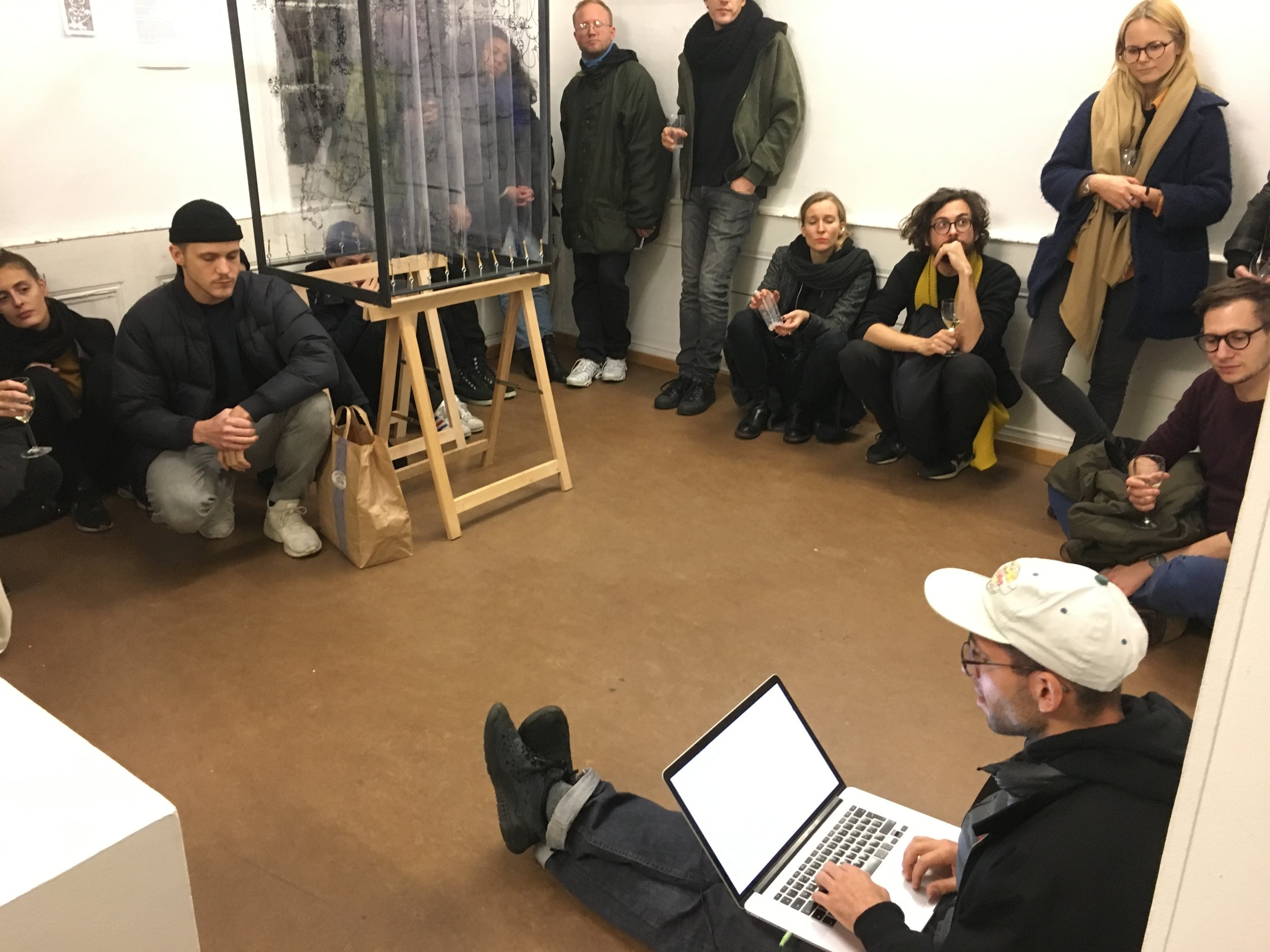 Vinzenz Meyner, Andrea Protokoll, Lecture Perfomance,Finissage ProjektLinks/Galerie DuflonRacz