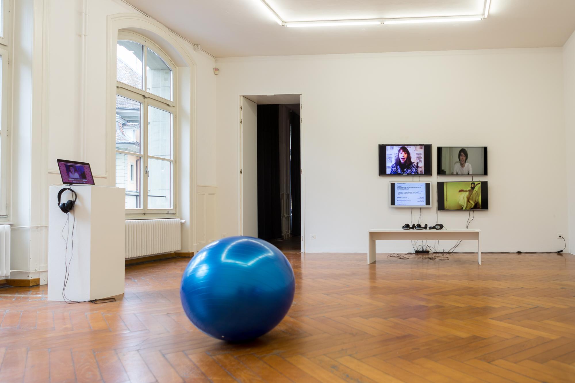 Installation Shot  Your Digital Self Hates You , Stadtgalerie Bern, 2016,Photo: Matt Cianfrani