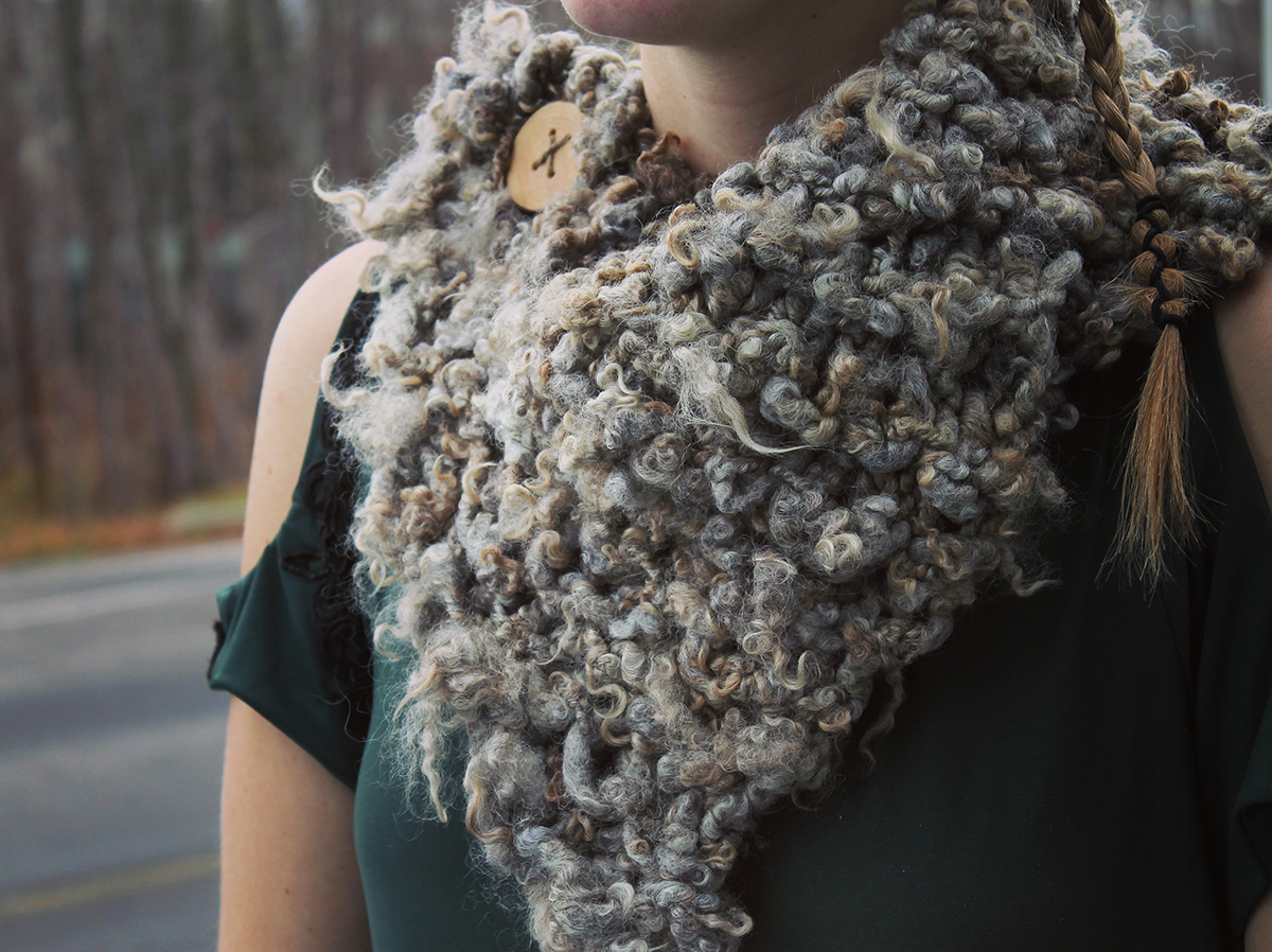 Wool scarf claire
