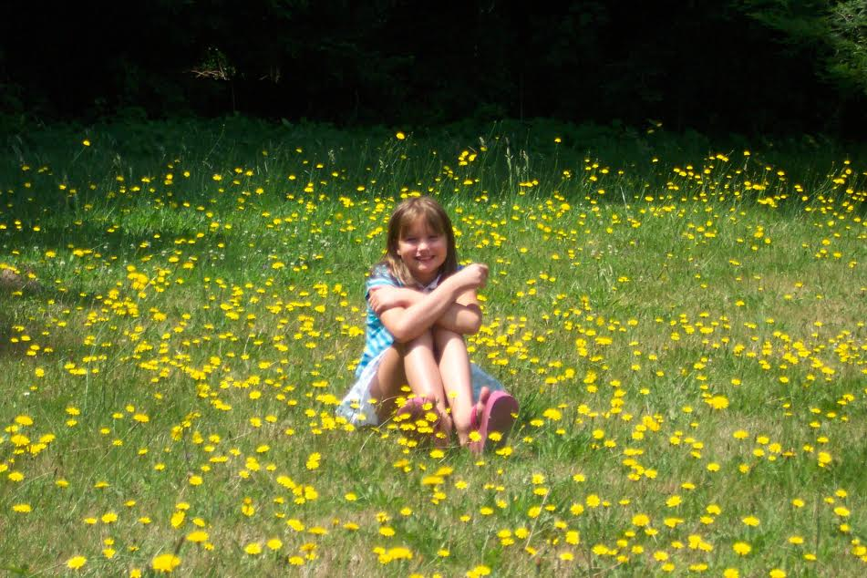 Christi in a California meadow