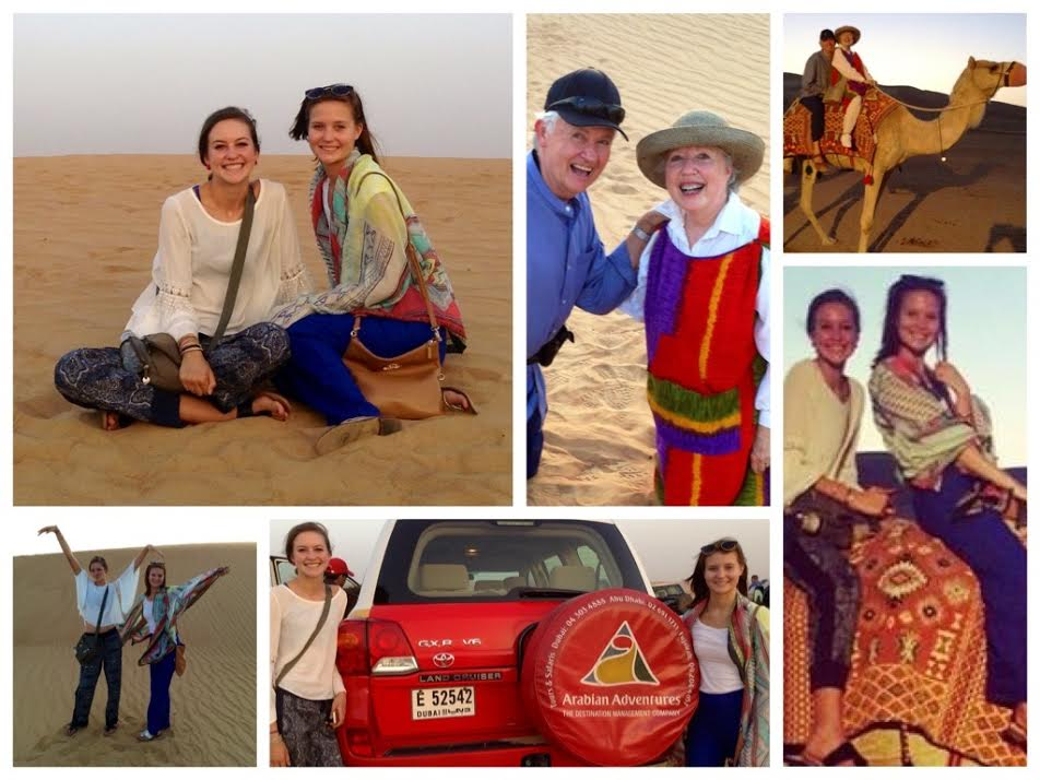 Dubai...an epic adventure initiated by Christi & Kayla, with resounding enthusiasm from their grandparents!