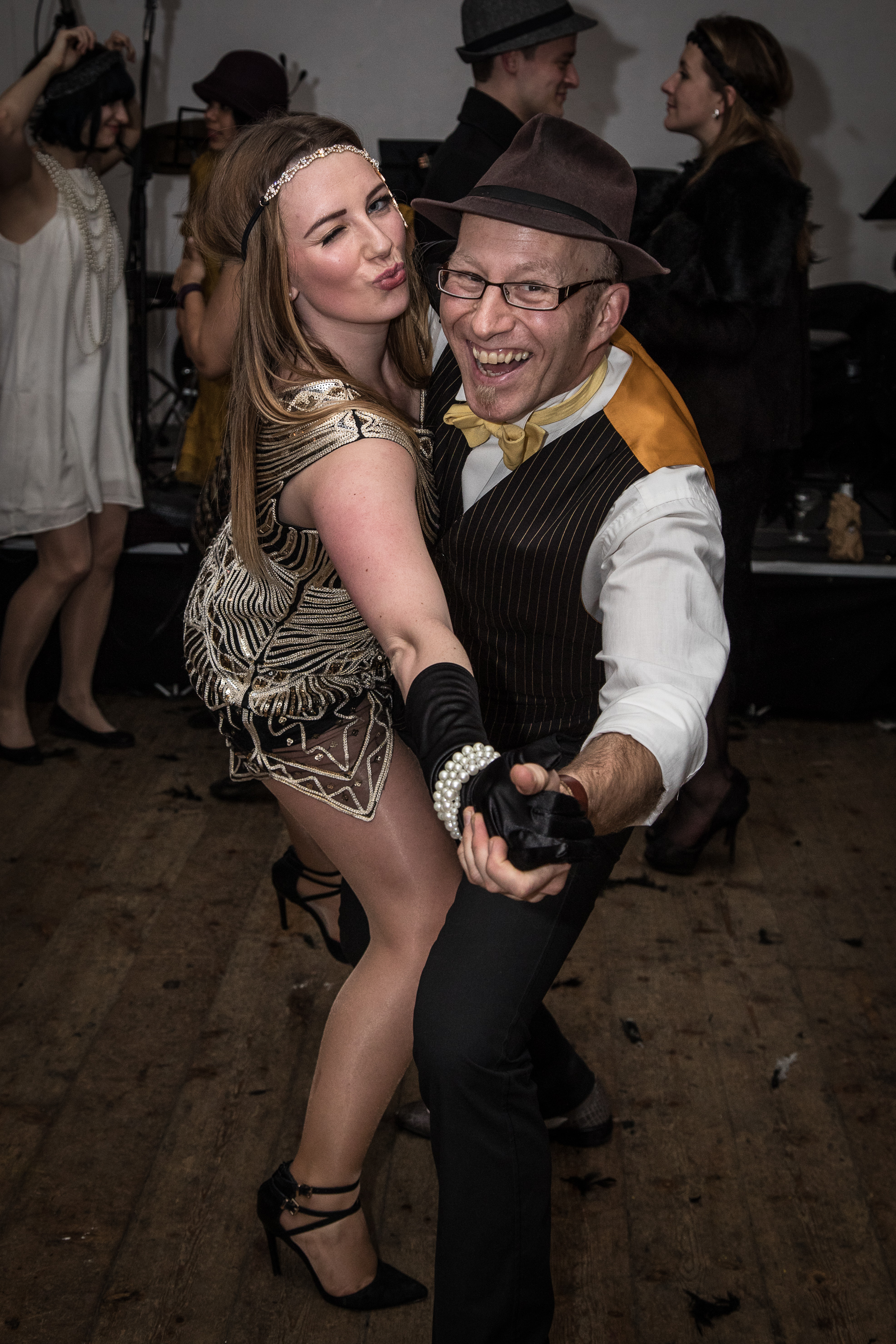 Couple dancing at the Candlelight Club