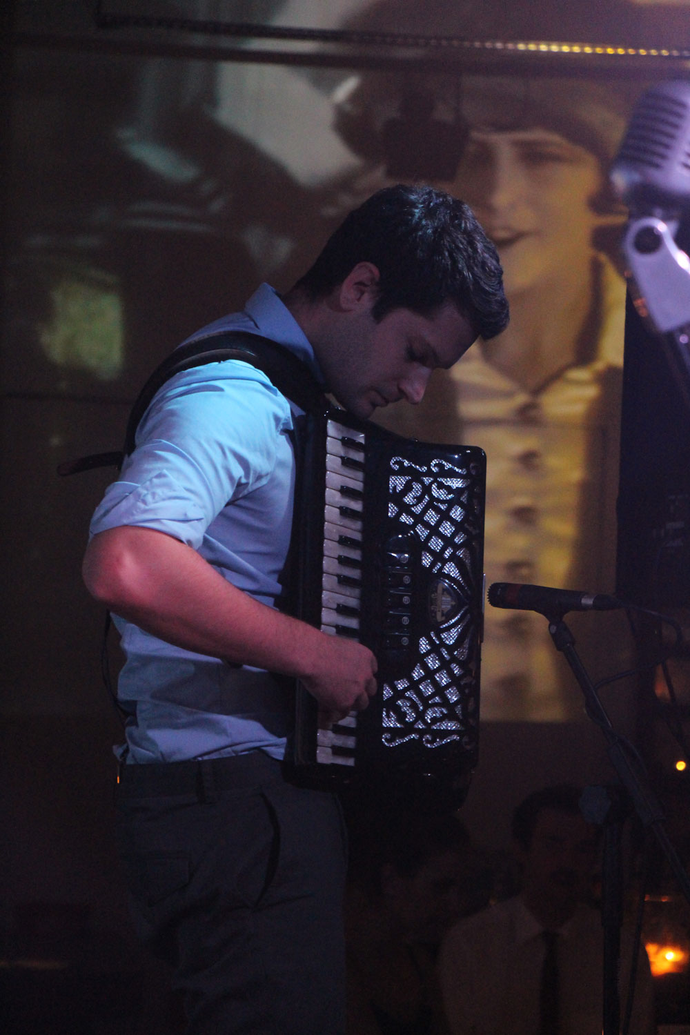 Accordion player from Cafe Manouche