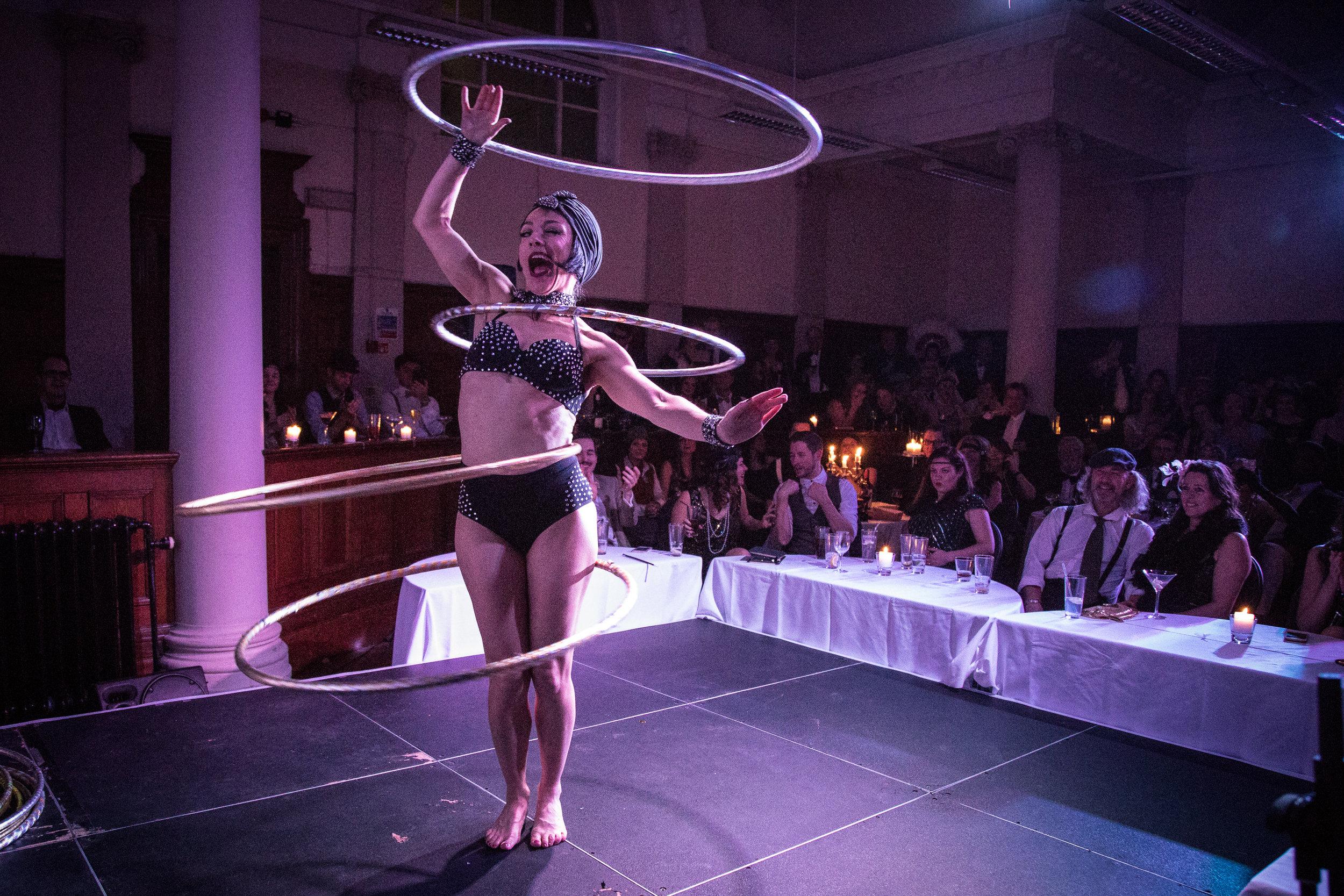 Abigail Collins hula hooping