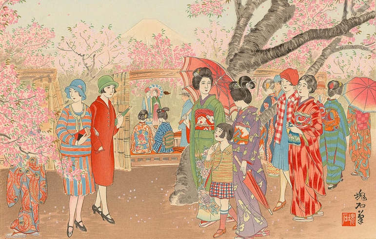 Mt-Fuji-and-the-Cherry-Blossoms-on-Asuka-Hill-(1929)-by-Jokata-Kaiseki.jpg
