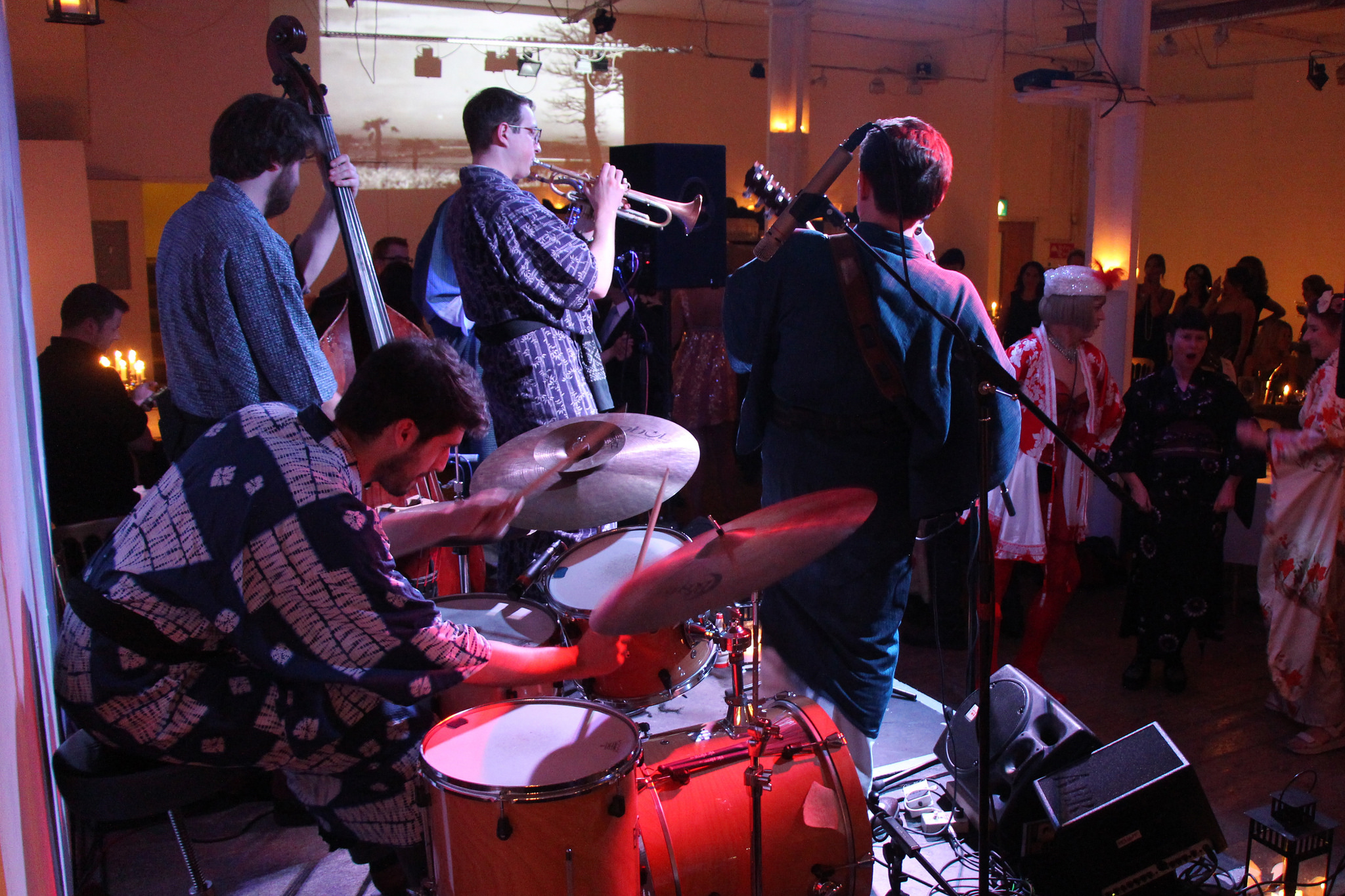 The Waruli Otoko Swing Orchestra the last time they played at the Candlelight Club