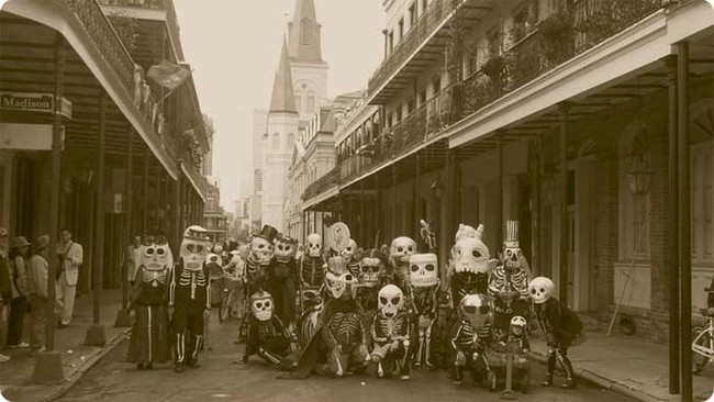 Some Mardi Gras costumes from the 1920s were actually rather creepy