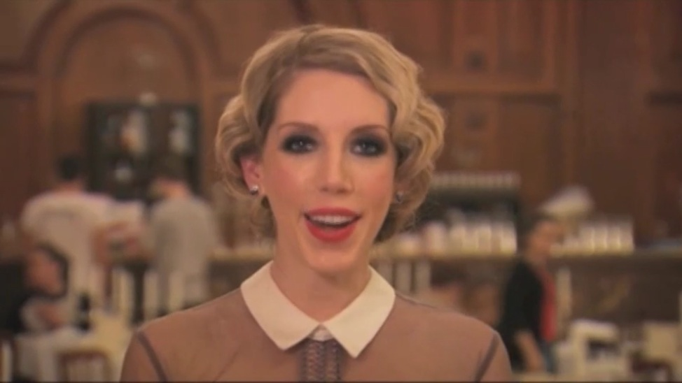 Katherine Ryan, host of Hair, introduces the episode shot entirely at the Candlelight Club (click image for video) -